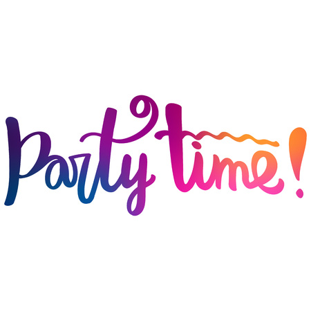 Calligraphic inscription. Text - Party Time! Фото со стока - 91988747