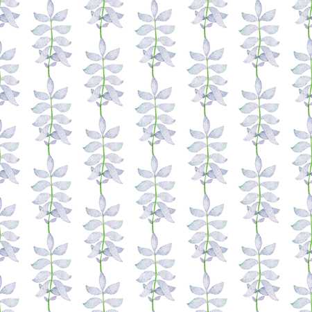Seamless Abstract Light Blue Branch Pattern. Watercolor Baby Girl collection. Фото со стока - 92196769