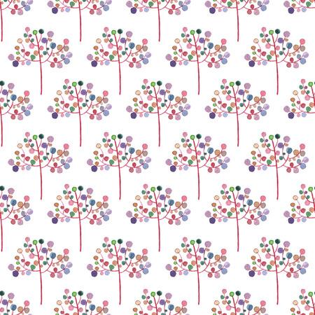 シームレスな抽象的な花のパターン。水彩画の赤ちゃん少女コレクション。
