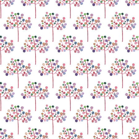 Seamless Abstract Flowers Pattern. Watercolor Baby Girl collection. Фото со стока - 92204672