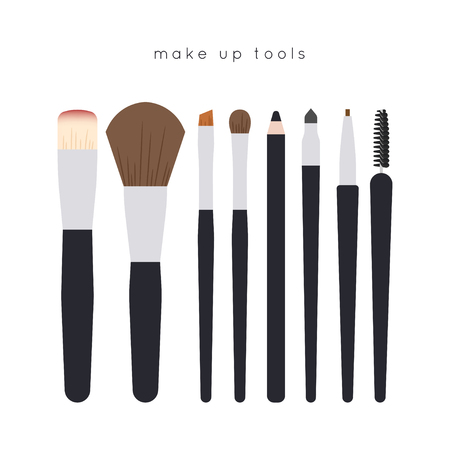Set of make up tools - brushes and pencils