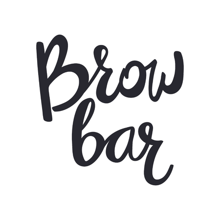Design for brow bar. Brow Bar Lettering text