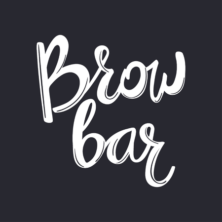 Design logo for brow bar. Brow Bar. Lettering text