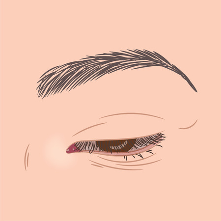 近い女性美しい茶色の目