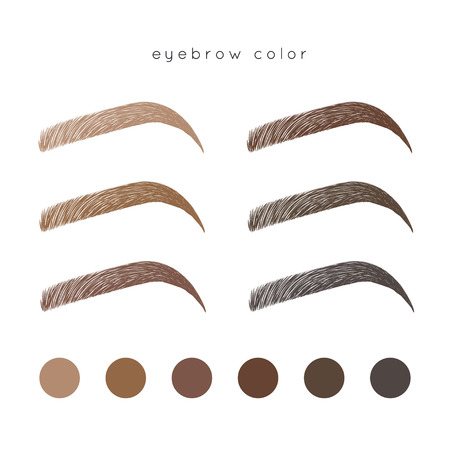 How to make up eyebrow. Brow color Иллюстрация