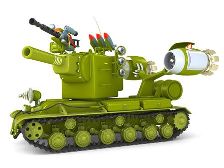 3D illustration Cartoon Ultra Tank Stock Photo
