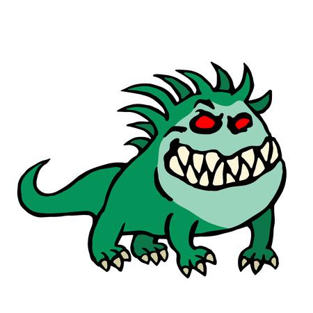 strangeness: big dog from hell. cute monster. vector illustration