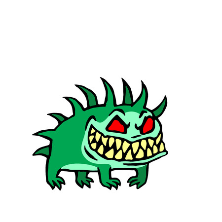 small infernal dog. cute monster. vector illustration Illustration