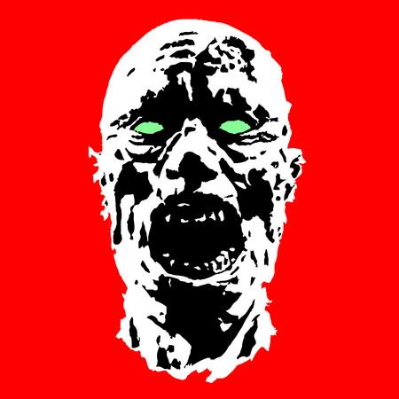 biohazard: horror fazombie horror face. scary image. vector illustration ce vector illustration