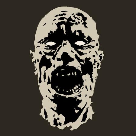 horror fazombie horror face. scary image. vector illustration ce vector illustration