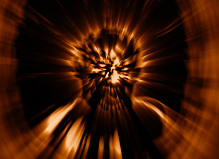 frenzy: Frenzy zombie head cover. Illustration in genre of horror. Image with blur effect. Stock Photo