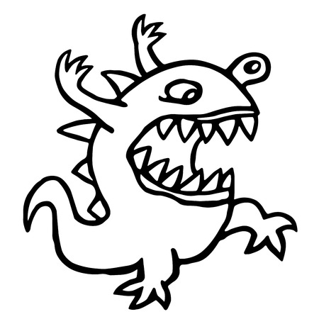 Angry dino cartoon character Stock Photo