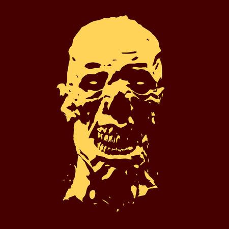 Zombie screams head.