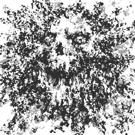 Astrazione spaventosa del cranio da detriti e punti. Illustrazione vettoriale. Genere horror. Carattere spaventoso per Halloween. Vettoriali