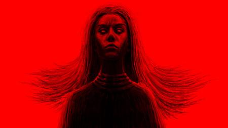 Femme chamane noire. Illustration fantastique.