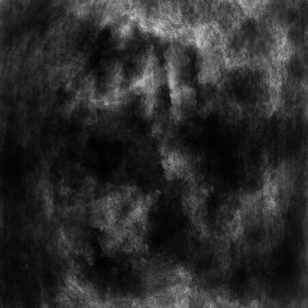Scary abstract darkly Halloween face. Black and white background in horror genre with coal and noise effect.