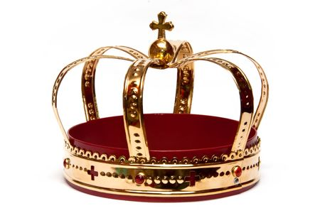 king crown: Golden crown Stock Photo