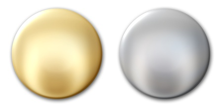 Gold and silver badges Stock Photo - 8293707