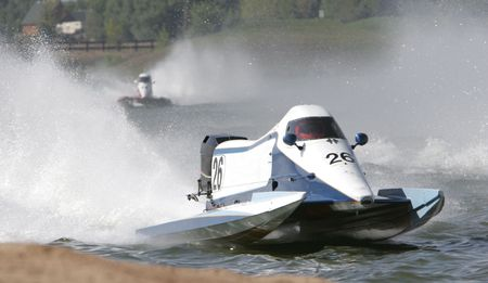 High Performance Powerboat Race Stock Photo