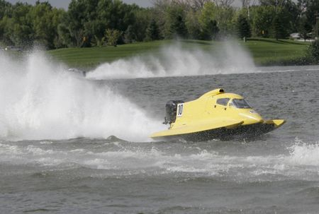 hydroplane: High Performance Powerboat Race Stock Photo