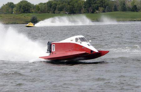 Powerboat Race Stock Photo