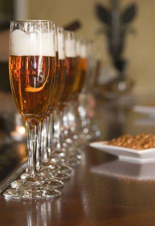 Beer in Champagne Glasses Stok Fotoğraf