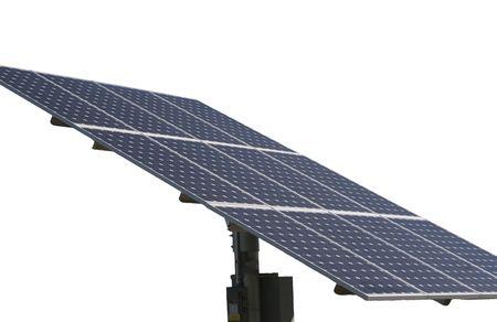 Solar Panel on White Background Stok Fotoğraf