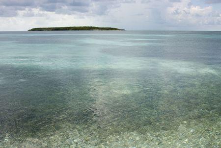 Island cay in the Bahamas