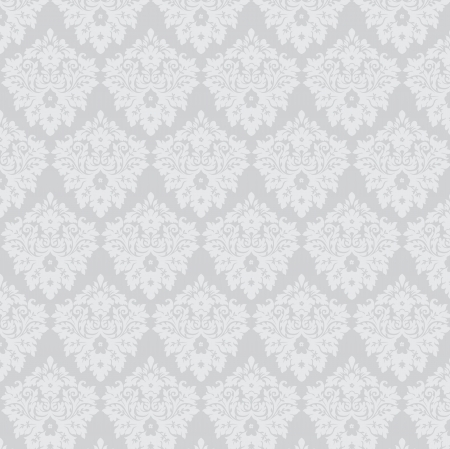 silver damask wallpaper Stock Vector - 16791570