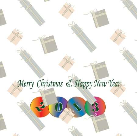 2013 colorful vektor on gift seamless background Stock Vector - 16791604