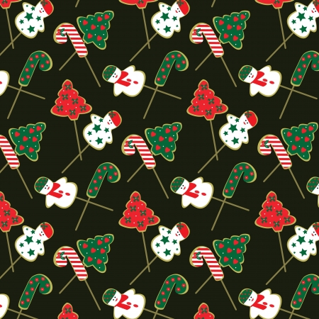 christmas cookie pattern Stock Vector - 16791609