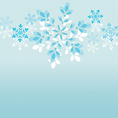 Snowflakes on blue  background Illustration