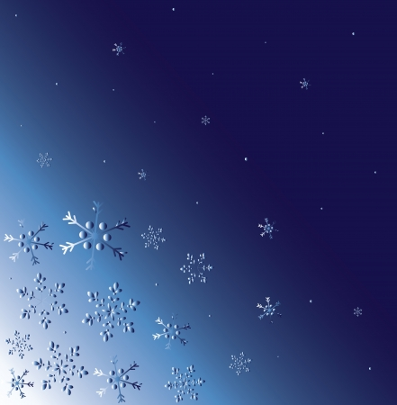 abstract winter background with snow Stock Vector - 16819270