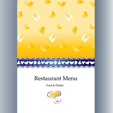 Special menu design for Valentine s day
