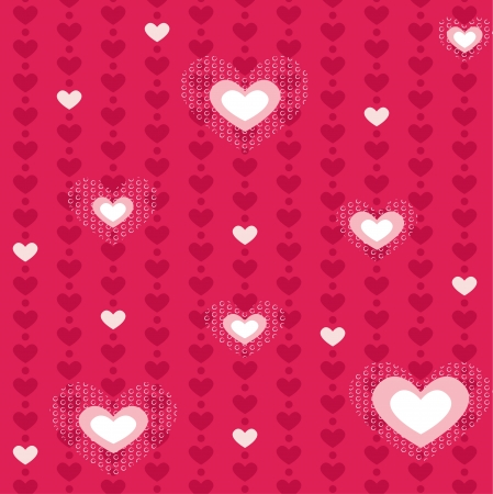 A seamless love heart pattern for Valentine�s day Vector