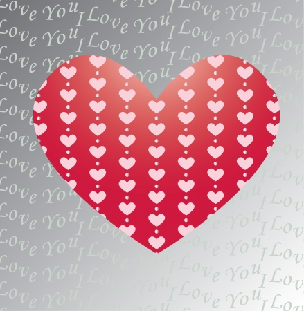 Valentine s greeting card with big heart