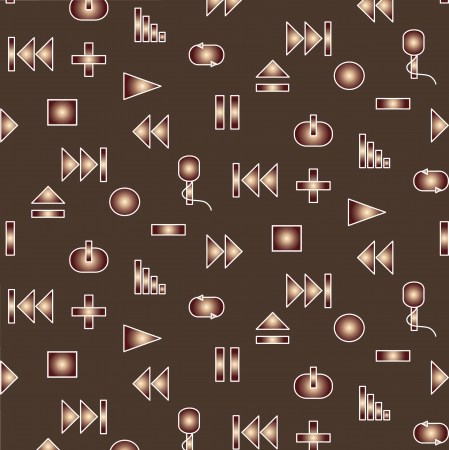 Music player icon seamless pattern Vector