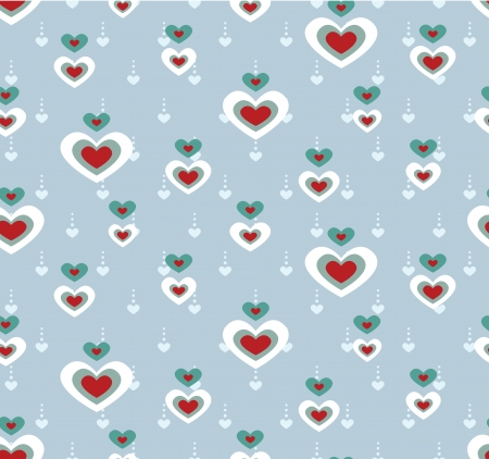 A seamless love heart pattern for Valentine day Illustration