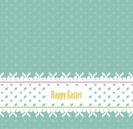 Easter card with lace banner Vector
