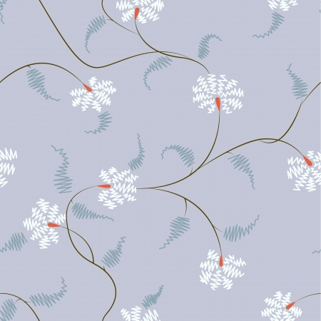 all over stylized flower pattern with zig-zag effect Illustration