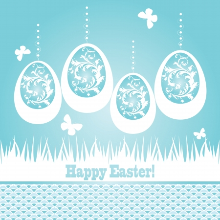 greeting card with eggs Vector