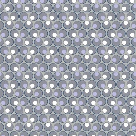 grey circle seamless pattern