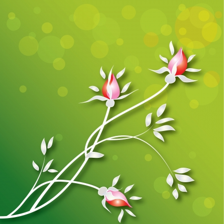Beautiful colorful rosebud spring background,vector illustration