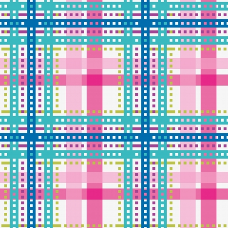 Tartan, plaid seamless pattern, bright color Vector
