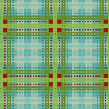 Green tartan, plaid seamless pattern   Vector