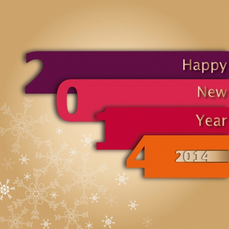 2014 Happy new year greeting card or background    Illustration