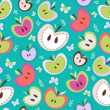 kiddies: Manzanas Fondo retro sin fisuras