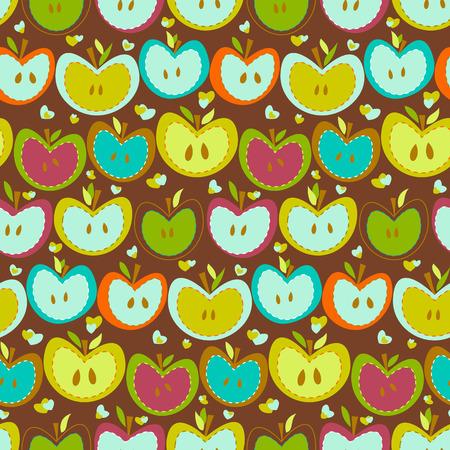 kiddies: Manzanas dulces en un fondo marr�n
