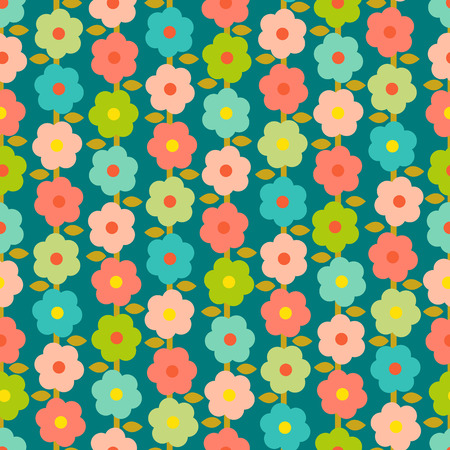 Seamless background with tiny daisies