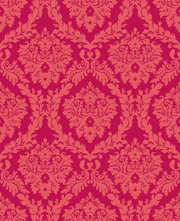 Damask seamless floral wallpaper background Vector